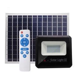 60W Energy Saving Boîtier étanche en plein air en aluminium 60 Watt Lampe de projecteur à LED solaire extérieur