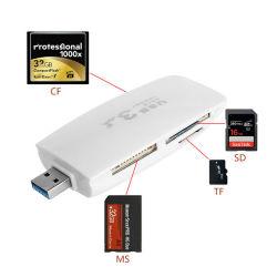 USB de alta velocidade 3.0 Mini-tudo em um cartão SD/TF/MS/CF Leitor de Cartão Multifuncional