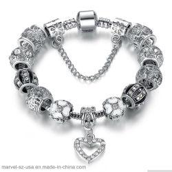 Silbernes Kristallluxuxmarken-Frauen-Charme-Armband-Schmucksache-Geschenk