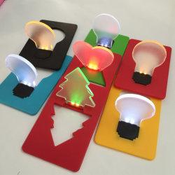 크리스마스 나무 지갑 LED 램프 카드 LED 카드 빛