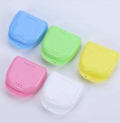 Prothèse ABS PP Portable Instrument orale Boîte porte-dents de retenue en plastique/boîtier de stockage