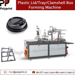 De automatische Plastic Vruchten Clamshell verpakken de Dekking Thermoforming die van het Deksel van de Kop van de Koffie van het Document van het Dienblad van het Vakje Machine maken vormen zich