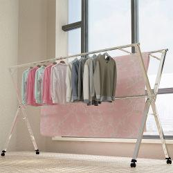 Aço inoxidável forte Panos Extensível Garment Rack Seco
