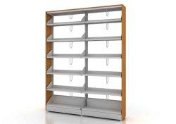 Scaffale per libri moderno del mobilio scolastico per la libreria con d'acciaio e di legno