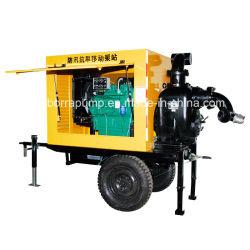 Motor diesel de autocebado de drenaje de aguas residuales de la bomba de basura