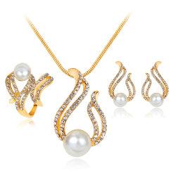 Accesorios de moda de Joyería de pendientes de boda conjunto de la joyería de Perla Moda Mujer
