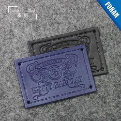 Acessórios de vestuário de couro PU Debossed Personalizados Jeans Etiqueta do emblema