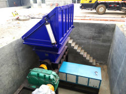 Dual-Shaft Shredder para residuos, metal, plástico, vidrio, madera, jardín de los residuos y desechos domésticos/Madera palets de plástico/neumático