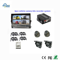 Disco duro de camiones 4CH 720p de 4G WiFi Mdvr con 4 cámaras DVR coche admite GPS 4G