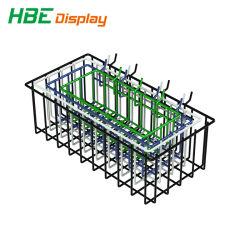 Quatre enduits DIP pendaison Wire Mesh de paniers de stockage pour présentoir/Gridwall/Slatwall