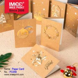 Imee Creative adorável e Visualização Tridimensional Cartão Bênção Natal cartão de saudação com o Envelope