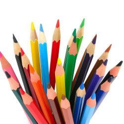 Het in het groot Gepersonaliseerde Promotie Privé Etiket die van de Douane het Grappige Bureau die van de School afdrukken het Houten Niet-toxische Zwarte Potlood van de Borstel van de Kleur met Gom trekken