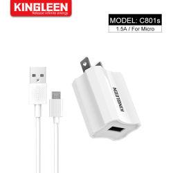 Nosotros Plug 1,5 A Micro USB cargador de teléfono móvil establecido