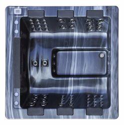 Kingston-bricht schwarzer Farben-heiße Wanne BADEKURORT Albuquerque den Schottland-heiße Wanne BADEKURORT, der schwimmt thermischen Schaumteppich (KGT-JCS-82A)