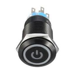 pulsante chiaro momentaneo del metallo dell'occhio LED di angelo di simbolo di potere dell'interruttore di pulsante dell'interruttore 12V di 19mm con il collegare della spina