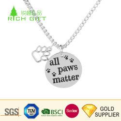 Metal personalizados de alta qualidade em liga de zinco a impressão por sublimação de tinta dourada brilhante Logotipo Eagle US Navy Dog Tag