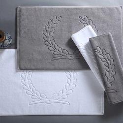 Indian Cotton Plain White Terry Bath タオル / バスマット