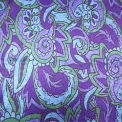 Abstract motif imprimé Tissu de coton de soie pour les femmes robe