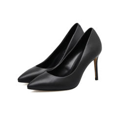 Parrcenの履物の方法本革のハイヒールの先の尖ったつま先の女性ポンプ靴