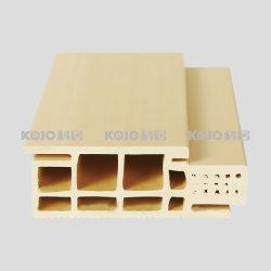 O composto de plástico Madeira Ajustável Fire-Retardant WPC caixilho da porta (H-118E)