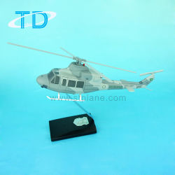 Fuerza Aérea saudita helicóptero Bell-412 Modelo personalizado de resina