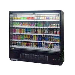 Aire libre de autoservicio Folleto refrigerados refrigerador con iluminación LED