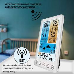 Color inalámbrica Estación meteorológica con alertas de temperatura interior/exterior