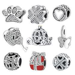 الأزياء الأوروبية الخرز مجوهرات براكاليت 925 جنيه استرليني الفضة