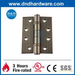 Resistencia al fuego UL ANSI CE de la puerta de acero inoxidable Accesorios de hardware Latón Antiguo Balseta Butt Bisagra de puerta de rodamiento de bolas