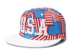 Американский флаг шаблон Hip-Hop Шансон бейсбола соломы с Red Hat (03010)