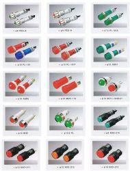 Ad22, AD16, 12, 10 Lâmpada indicadora, Lâmpada de luz LED, LED, Luz de Advertência, Lâmpada de sinalização