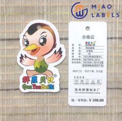 ورق مخصص طباعة بطاقات هانغ ملونة نمط العلامات في مقطوع بالموت