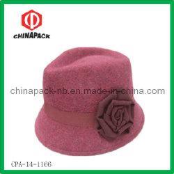 Дамы шерсть считает Red Hat Fedora ковша с ручной работы цветы (CPA-14-1166)
