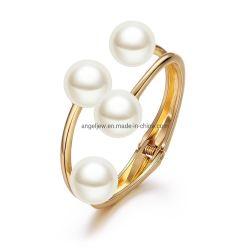 Nuovi monili all'ingrosso di modo dell'argento sterlina di disegno 925 con il braccialetto della perla per le donne