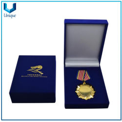 Kundenspezifischer transparenter Acyrlic Kasten, Medaillen-Münzen-Samt-Kasten, Abzeichen-Kasten für das Förderung-Geschenk-Packen