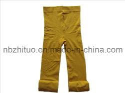 Señoras amarillo suave de algodón Mallas térmicas (ZT-LT-013)