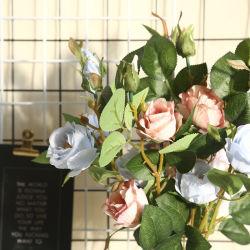 Fiore artificiale della bottiglia della Rosa del singolo gambo decorativo romantico all'ingrosso (YHZ-37331)