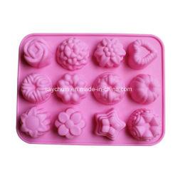 Trellis savon artisanal moule 6 Love Heart a augmenté de forme ronde moule à cake en silicone moules au chocolat