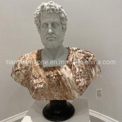 Escultura en piedra busto de mármol para la decoración del hogar