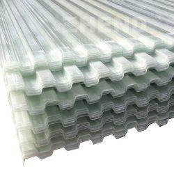 UV Stablized 내화성 투명한 물결 모양 섬유유리 FRP 루핑 장