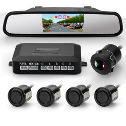 시각 적이고 & 청취가능한 경고를 가진 영상 주차 센서 및 주차 안전을%s 5대의 센서 디스플레이하는 자동 다채로운 TFT-LCD 미러