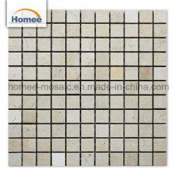 Высокое качество пола в ванной комнате мозаикой плиткой кремового Marfil бежевым мрамором мозаики