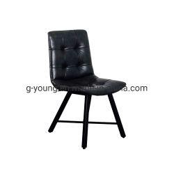 PU Cuir Métal Bois imité Dos haut chaise de salle à manger