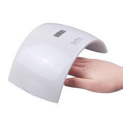 24W de LEIDENE UVDroger die van de Spijker Lamp met Automatische Sensor genezen