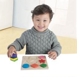 Het houten Geometrische Speelgoed van de Puzzel van de Vorm voor Houten Stuk speelgoed van de Sorteerder van de Kleur van de Vorm van Jonge geitjes het Onderwijs met de Raad van de Opslag voor de Meisjes van de Jongens van de Baby