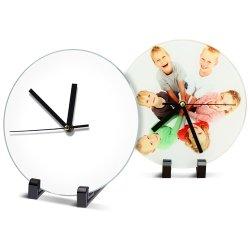 Sublimación el marco de fotos de vidrio con reloj