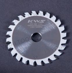 Hoja de sierra circular de carburo TCT para puntuación cónica de madera