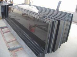 La tuile/dalle//de comptoir de la vanité de l'escalier/Top/Tableau noir absolu de paillasse Shanxi en granit noir