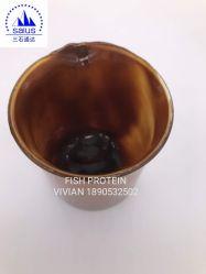 Fischprotein-Puder und Flüssigkeit