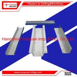 La lumière de l'acier galvanisé plafond en métal de la quille du placoplâtre de canal d'accessoires de suspension
